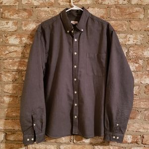 Merona Black Denim Super Soft Long Sleeve Shirt
